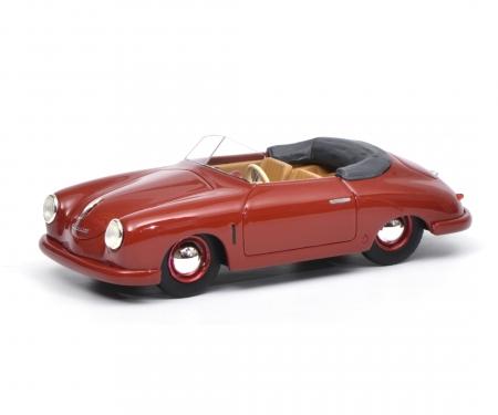 schuco Porsche 356 Gmünd Cabriolet, dark red, 1:43