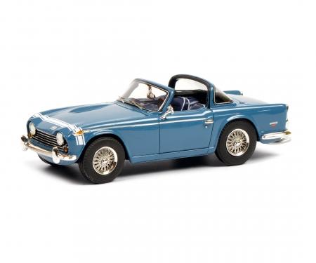 schuco Triumph TR250 blue 1:43