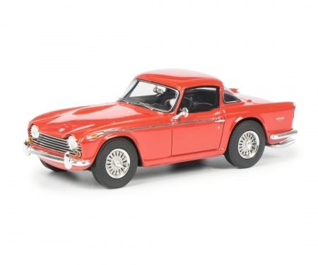 Triumph TR5 with closed Surrey Top, red black, 1:43