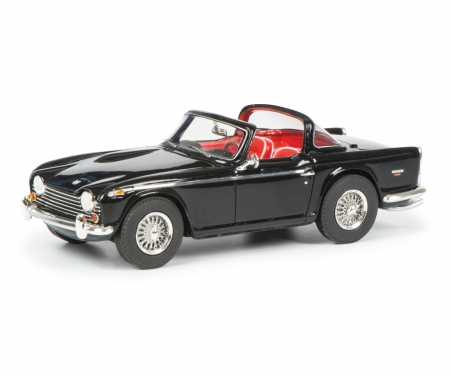 schuco Triumph TR5 with open surrey top, black red, 1:43