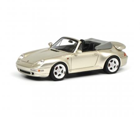 schuco Porsche 911 (993) Cabrio, grey 1:43