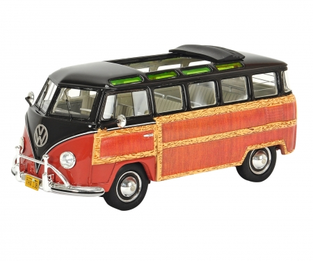 "VW T1 Samba ""Woody"" brown-red 1:43"