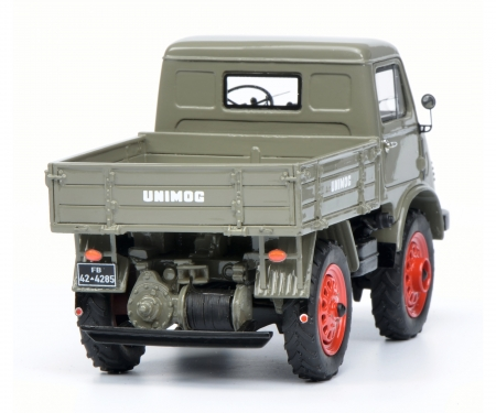 "schuco Mercedes-Benz Unimog U 401 Westfalie Kabine ""Froschauge"", grau 1:32"