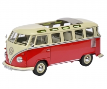 VW T1 Samba Bus, rot-weiß, 1:32