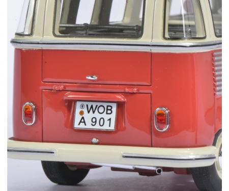 VW T1 Samba Bus, red-white, 1:32