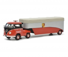 "VW T1b racing transporter ""Continental Motors"", red, 1:43"