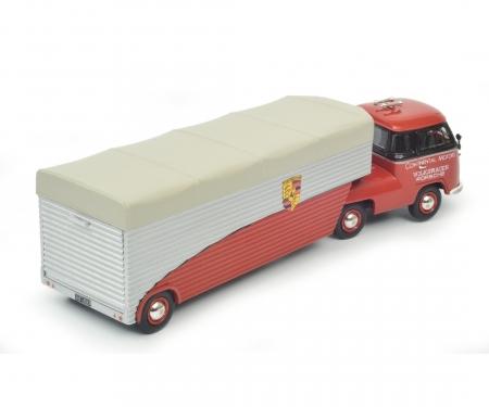 "VW T1b racing transporter ""Continental Motors"", red, 1:43"