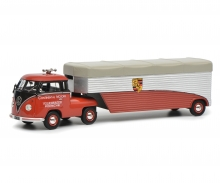 "schuco VW T1b Renntransporter ""Continental Motors"", red, 1:18"