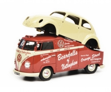 "schuco VW T1a ""Beardalls of Nottingham"", red, 1:43"