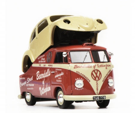"schuco VW T1a ""Beardalls of Nottingham"", rot, 1:43"