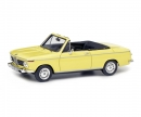 schuco BMW 2002 Cabrio 2/2 (Baur), yellow, 1:43