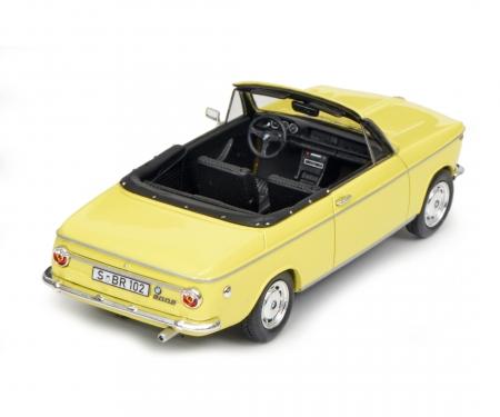 schuco BMW 2002 Cabrio 2/2 (Baur), gelb, 1:43