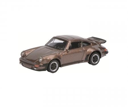 Porsche 911 Turbo 3.0, braun-metallic, 1:64