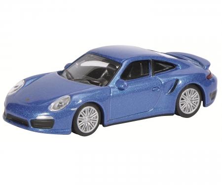 Porsche 911 Turbo (991), saphirblau-metallic, 1:64