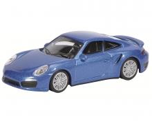 Porsche 911 Turbo (991), saphir blue-metallic, 1:64