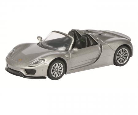 Porsche 918 Spyder, silver, 1:64