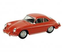 Porsche 356 Carrera 2, red 1:64