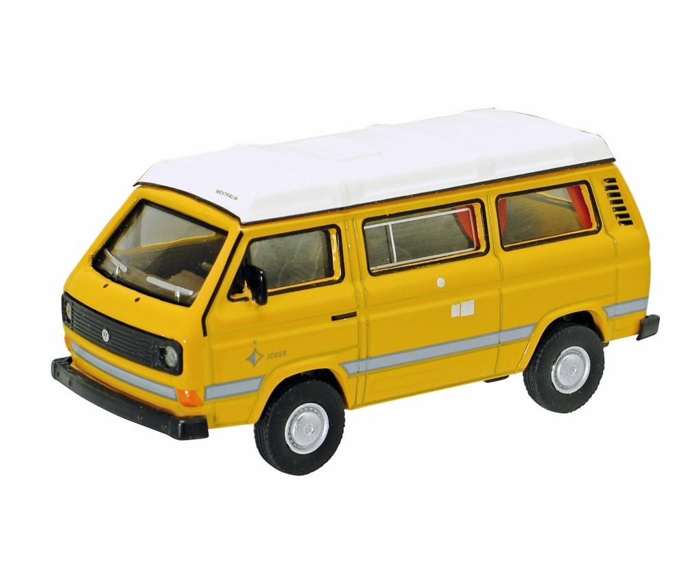 vw t3 camper mit faltdach gelb 1 64 edition 1 64. Black Bedroom Furniture Sets. Home Design Ideas