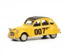"""schuco Citroën 2CV """"007"""", gelb, 1:64"""