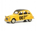 "schuco Citroën 2CV ""007"", yellow, 1:64"