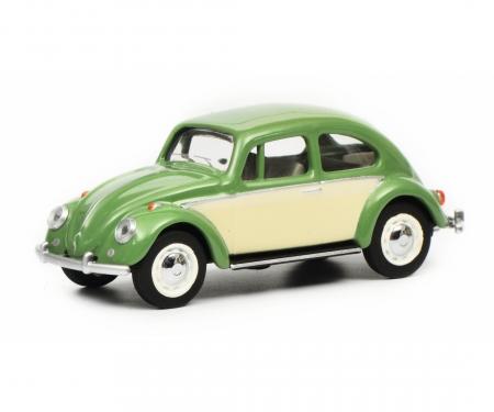 VW Beetle, green beige, 1:64