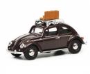 """schuco VW Käfer """"Reisezeit"""", dunkelrot, 1:64"""