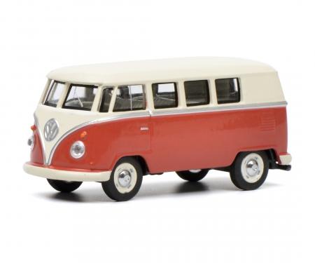 schuco VW T1 Bus, rot beige, 1:64
