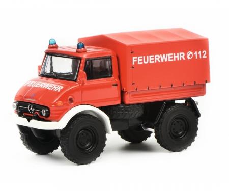 """schuco Mercedes-Benz Unimog U406 """"Feuerwehr"""", 1:64"""