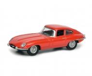 schuco Jaguar E-Type Coupé, red, 1:64