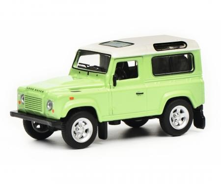 Land Rover Defender, green white, 1:64