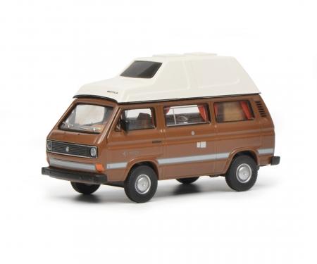 """schuco VW T3 """"Joker"""", brown, 1:64"""