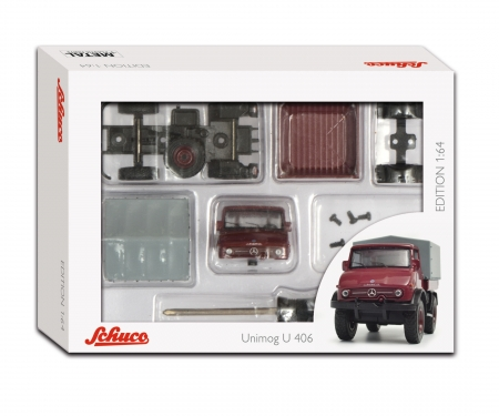 "Edition 1:64 Kit ""Mercedes-Benz Unimog U406"", rot, 1:64"
