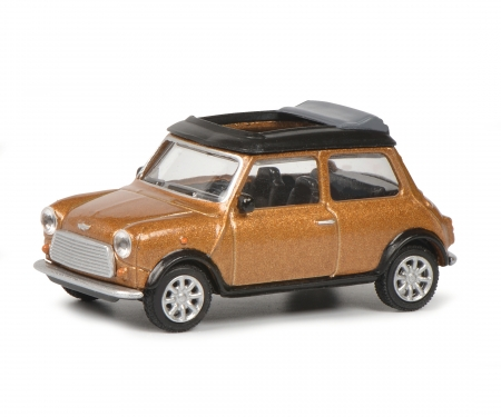 schuco Mini Cooper braun met.1:64