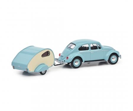 schuco VW Käfer mit Wohnanh.1:64