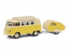 schuco VW T1 Camper w.caravan 1:64