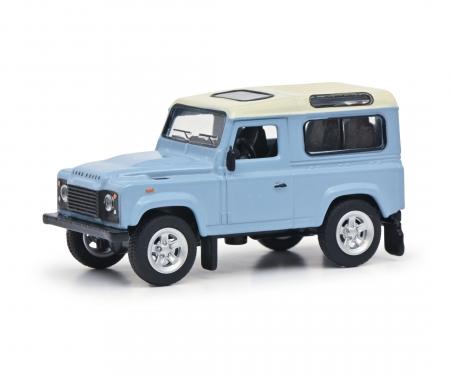 schuco Land Rover light blue 1:64