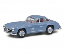 schuco MB 300 SL gullwing blue 1:64