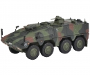 "schuco Boxer infantry transport vehicle ""Bundeswehr"", camouflaged 1:87"