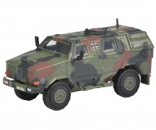 "schuco Dingo I, all protection vehicle ""Bundeswehr"", camouflaged 1:87"