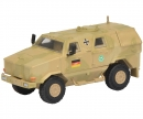 "schuco Dingo I, all protection vehicle ""ISAF"", camouflaged 1:87"