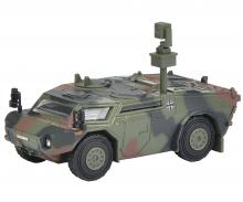 """schuco Fennek scout car """"Bundeswehr"""", camouflaged 1:87"""