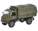 """schuco Unimog S 404 pick up tarpaulin """"Bundeswehr"""" 1:87"""