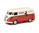 """schuco VW T1c box van Ferrari Automobili """"Francorchamps"""" 1:87"""