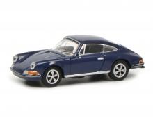schuco Porsche 911 S Coupé, blue 1:87