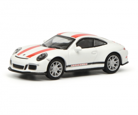 schuco Porsche 911 R (991), white/red 1:87