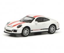 schuco Porsche 911 R (991), weiß/rot 1:87