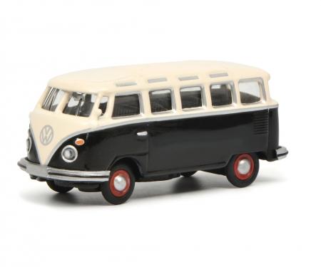VW T1c Samba, black/white, 1:87