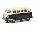 VW T1c Samba, schwarz/weiß, 1:87