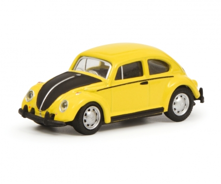 schuco VW Beetle, yellow black, 1:87