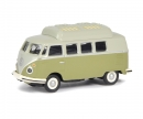 schuco VW T1c camping bus, green grey, 1:87